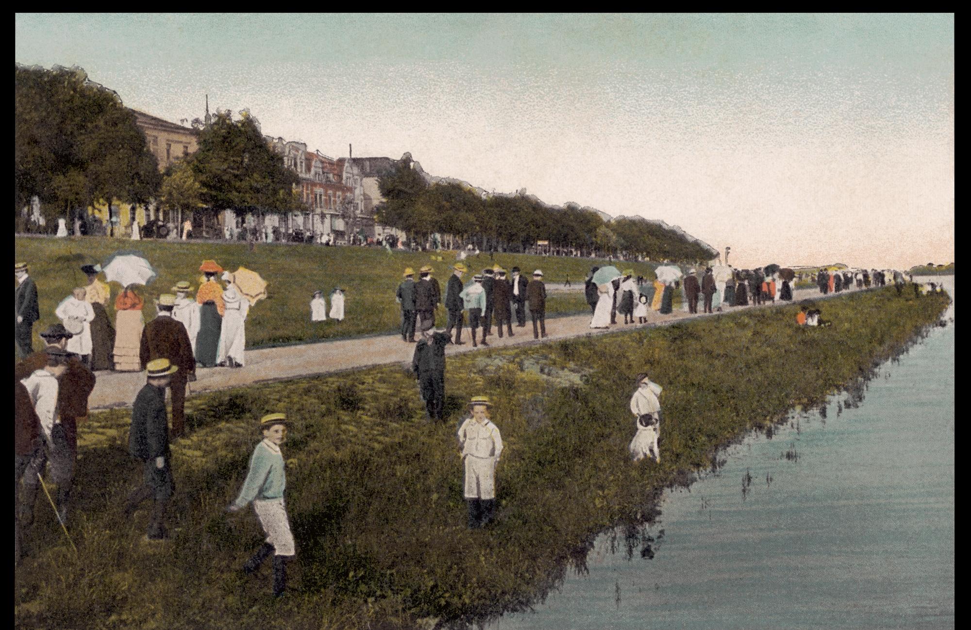 Flanieren auf der Strandpromenade am Osterdeich - col-A