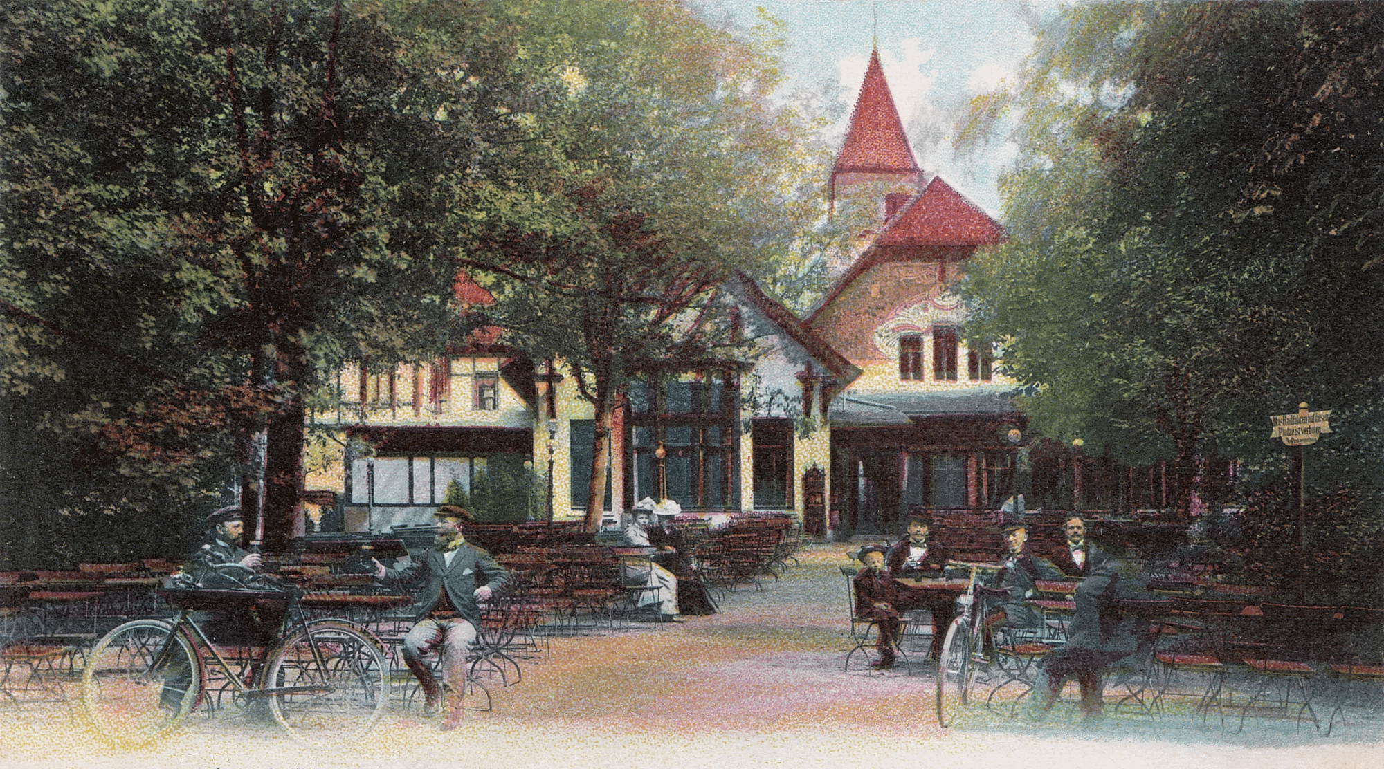 Nr.426 - Cafehaus, Fahrradfahrer-Pause
